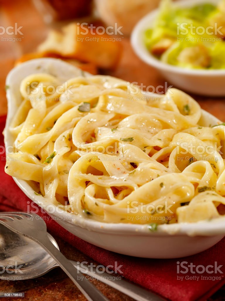 Fettucini Alfredo stock photo