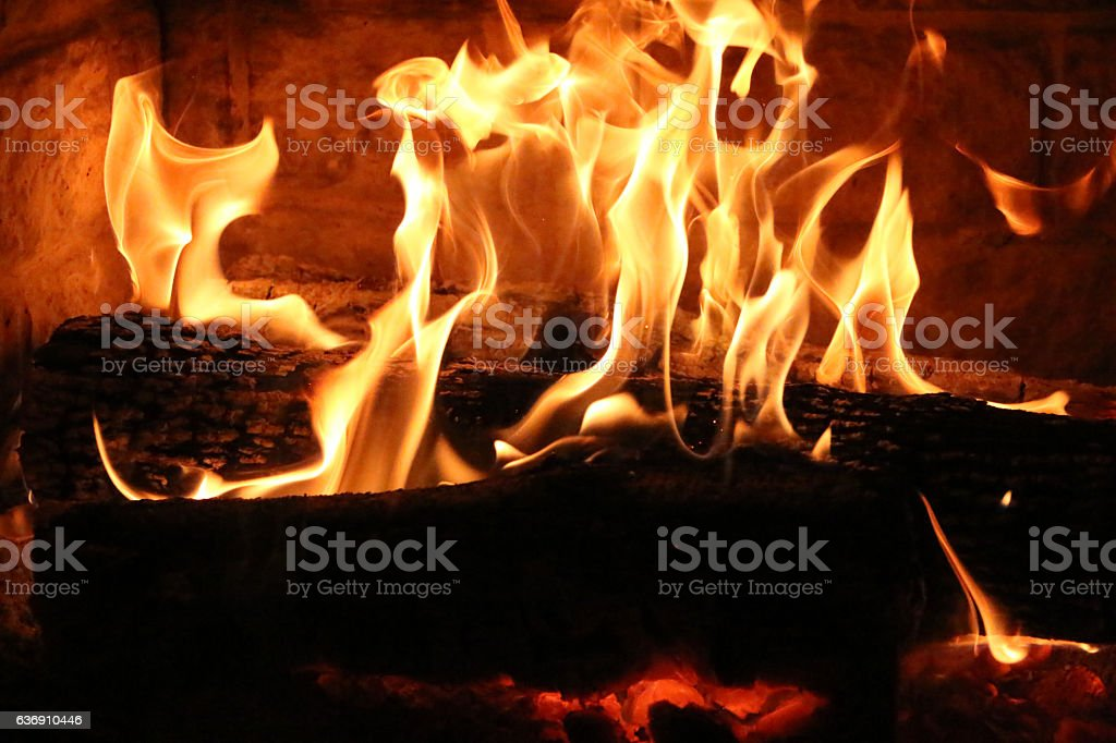 Feu de cheminée stock photo