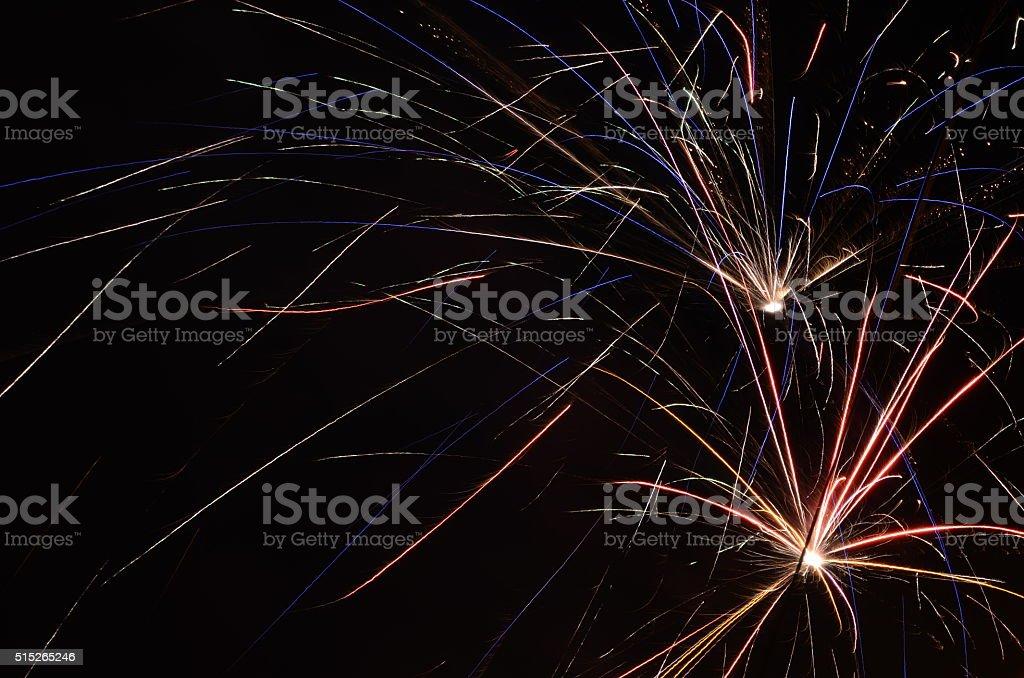 Feuerwerk an Silvester stock photo
