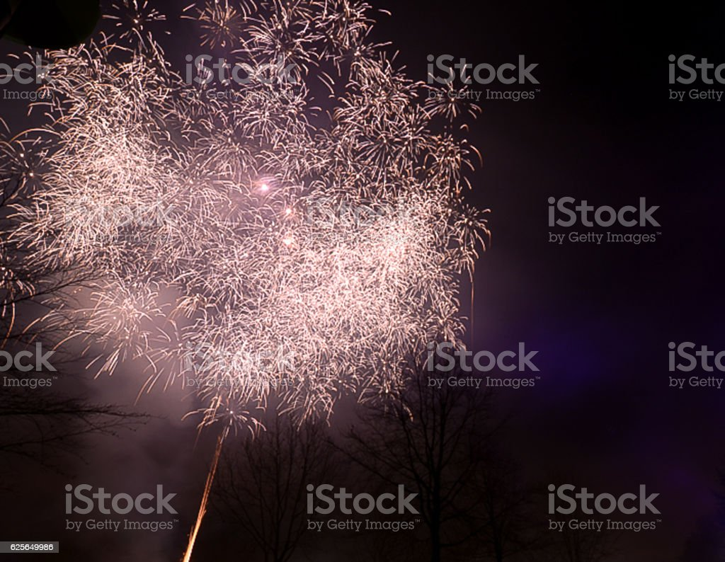 Feuerwerke, eine Erfindung der Menschheit stock photo