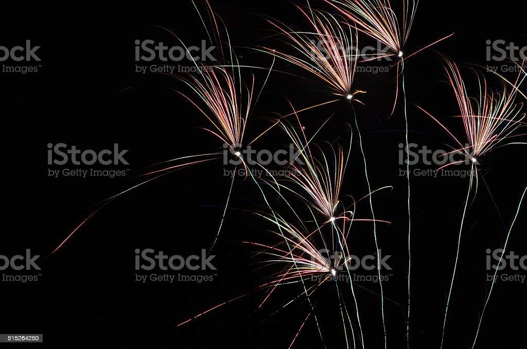 Feuerwerksraketen stock photo