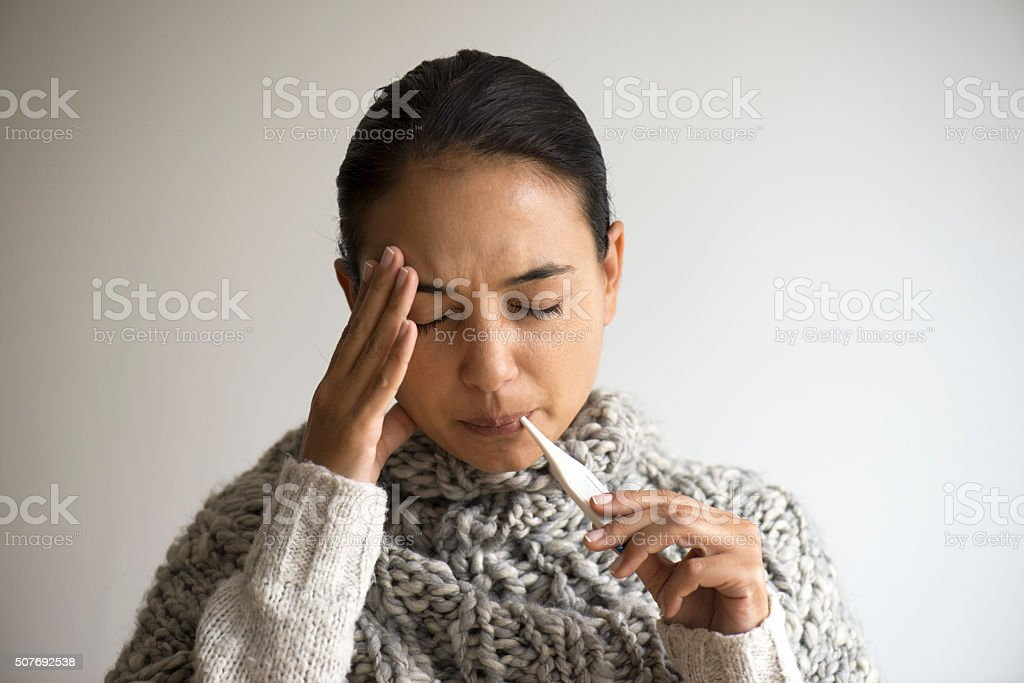 Fever stock photo