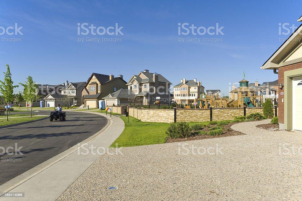 Few brand new suburban houses. royalty-free stock photo