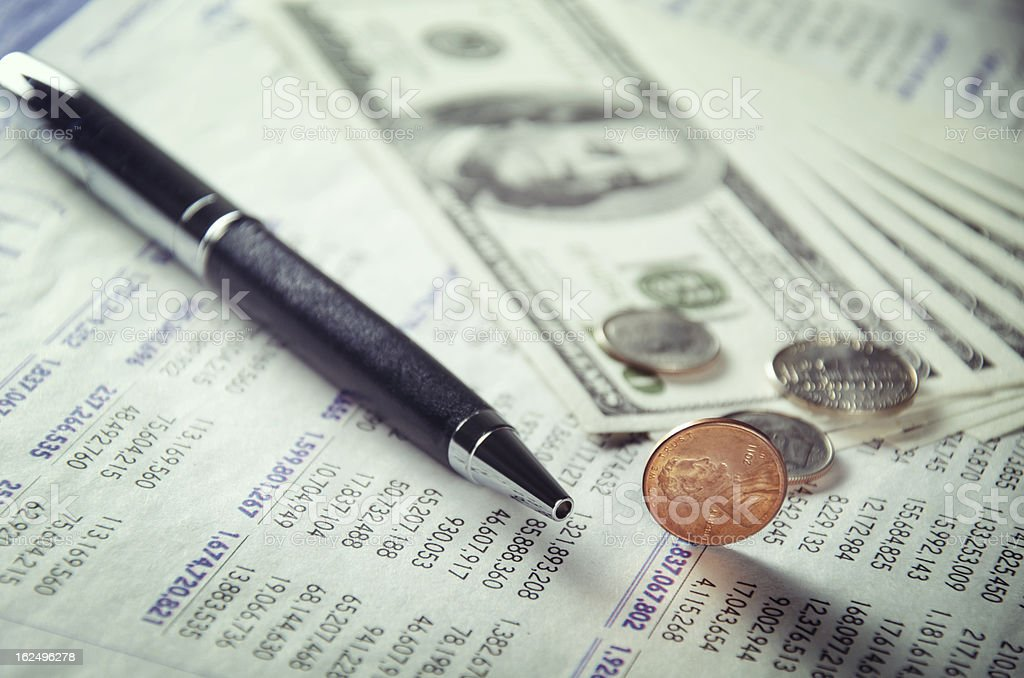 Few cents royalty-free stock photo