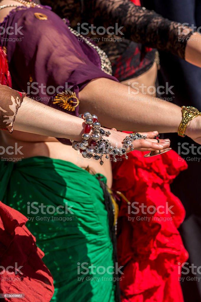 Few dancers hands stock photo