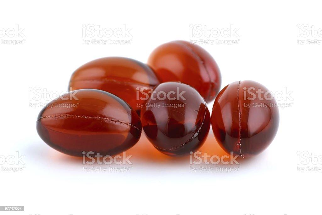 Few lecithins capsules royalty-free stock photo