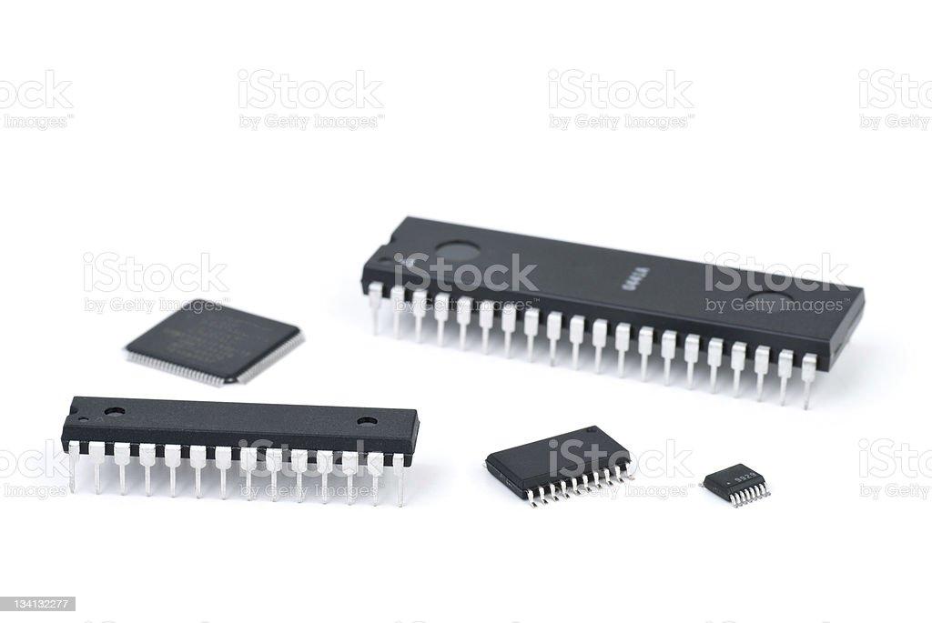 Alguns microchips foto de stock royalty-free