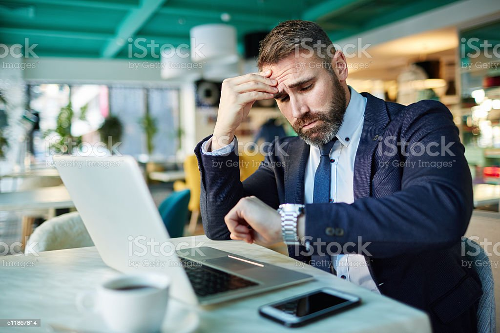 Few more minutes stock photo