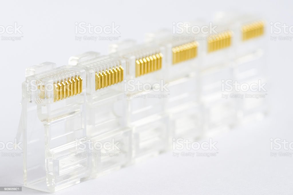few network connectors royalty-free stock photo
