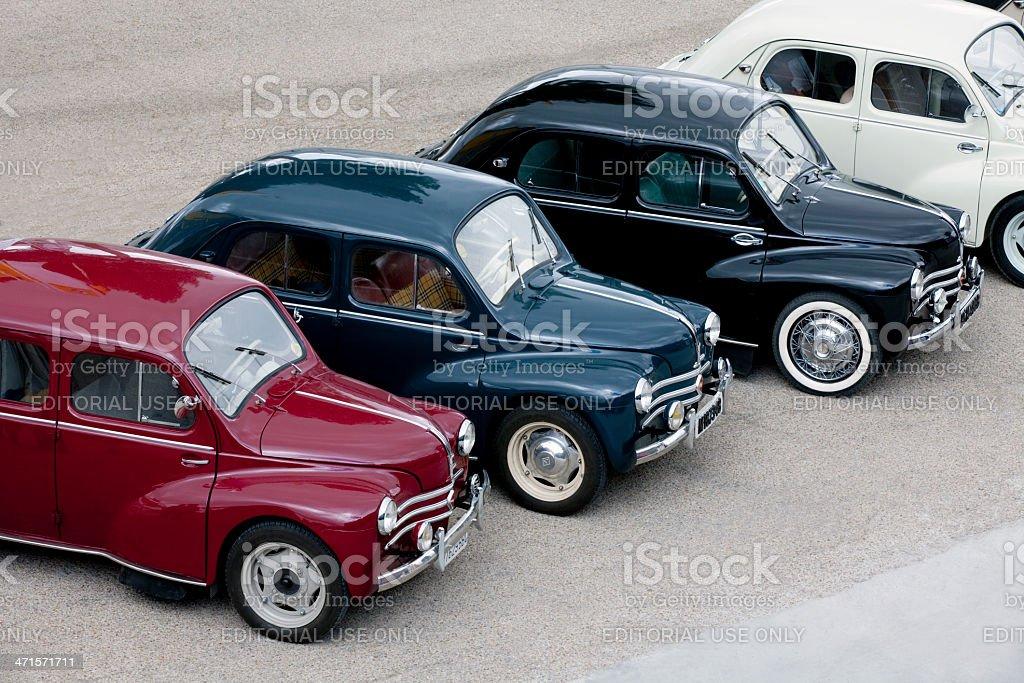 Few Renault 4 CV stock photo