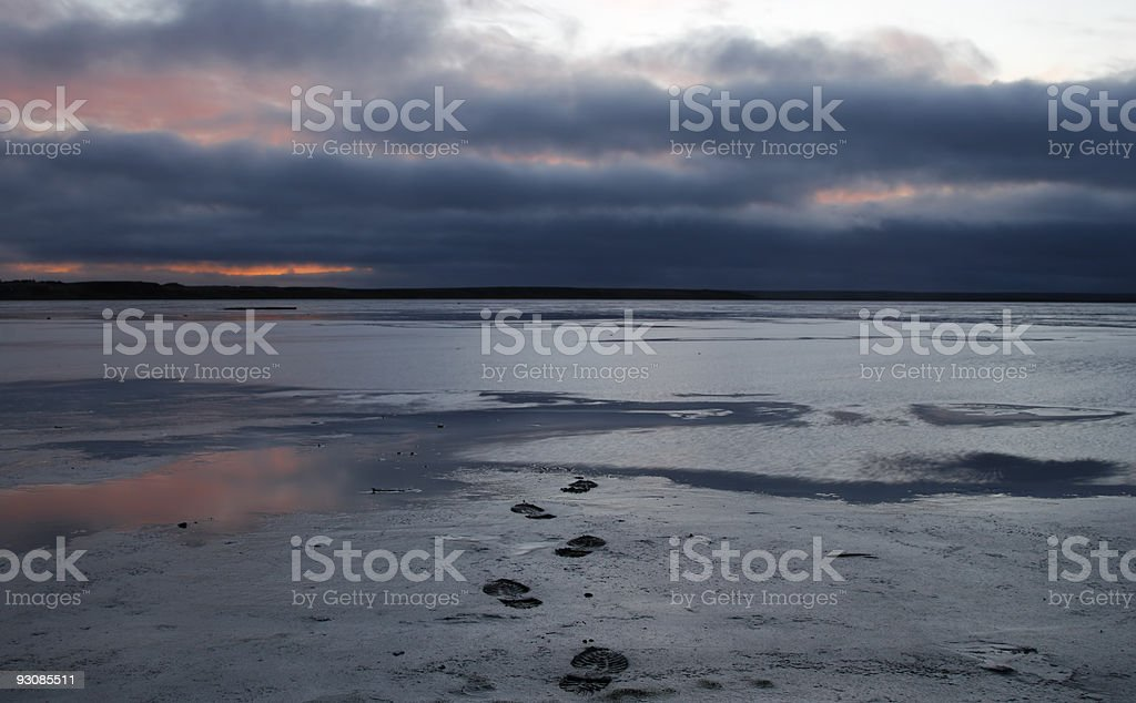 Few steps to Arctic twilight . royalty-free stock photo
