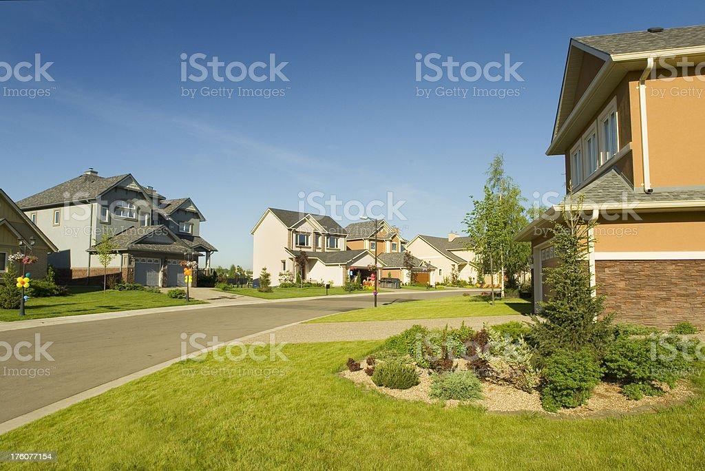 Few suburban houses. royalty-free stock photo