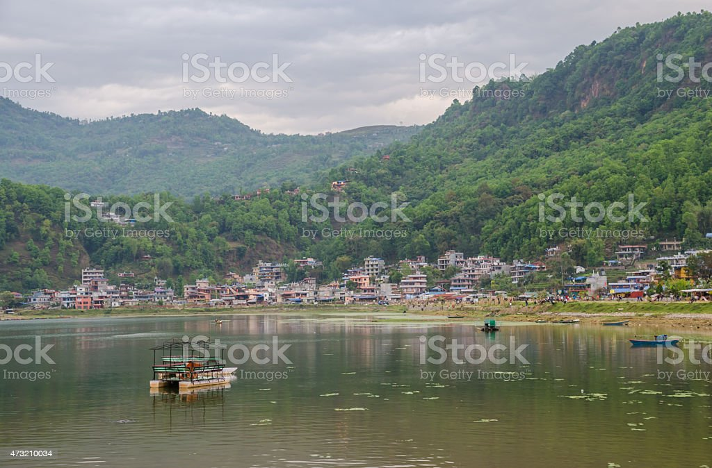 Fewa lake , Pokhara , Nepal stock photo