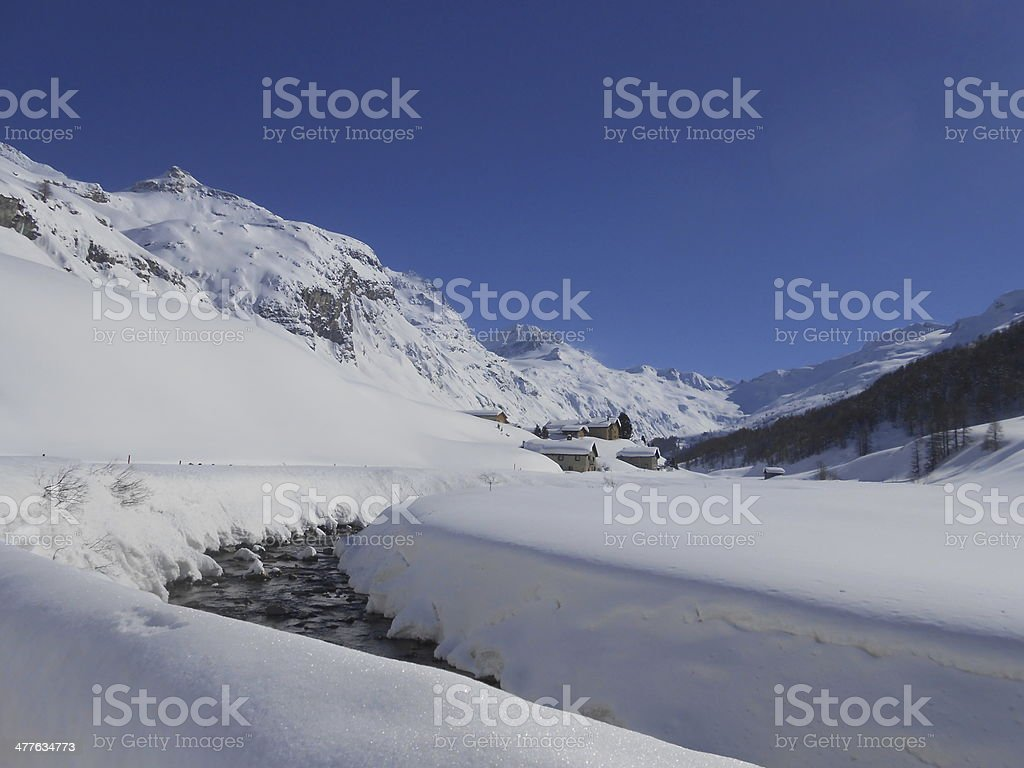 Fex Valley in the Engadin stock photo