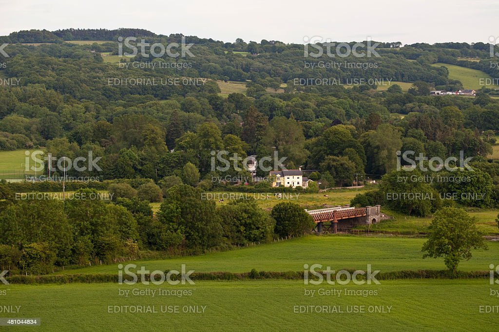 Ffairfach in a Welsh Valley stock photo
