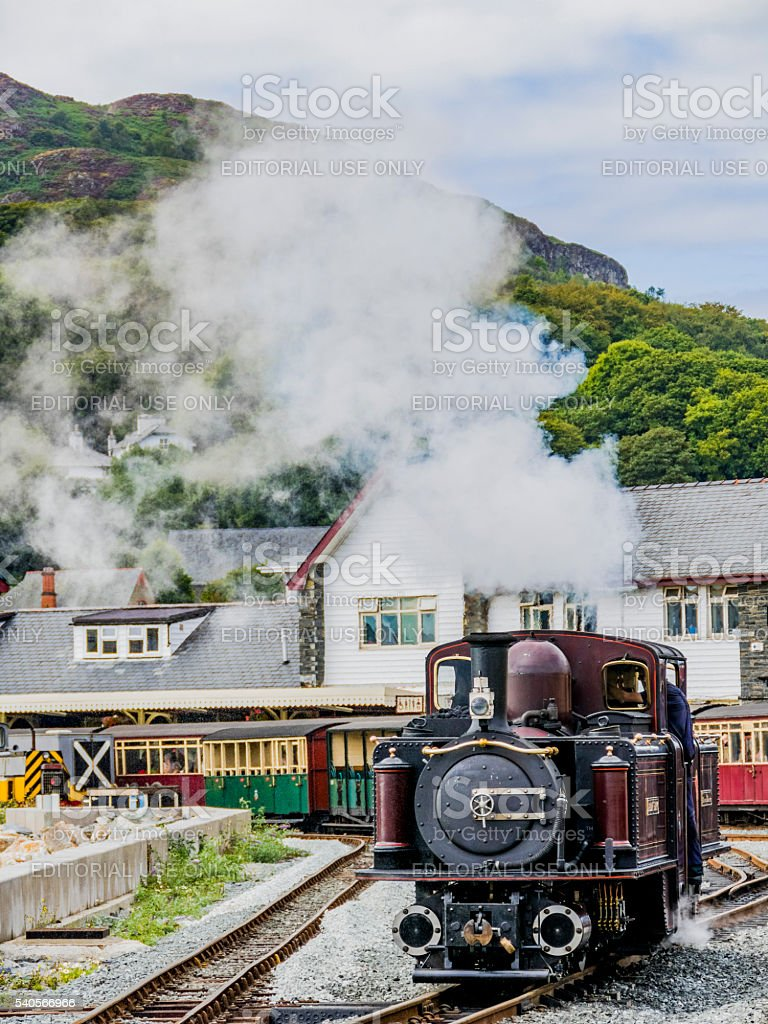 ffestiniog railway stock photo