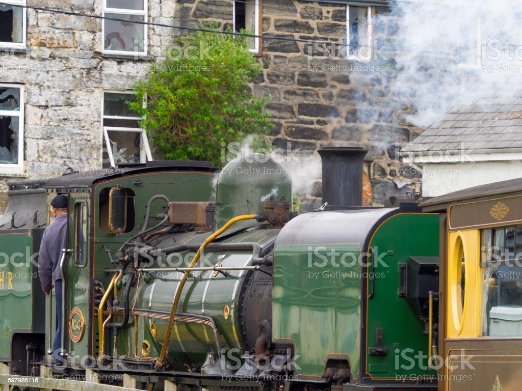 Ffestiniog Railway train stock photo