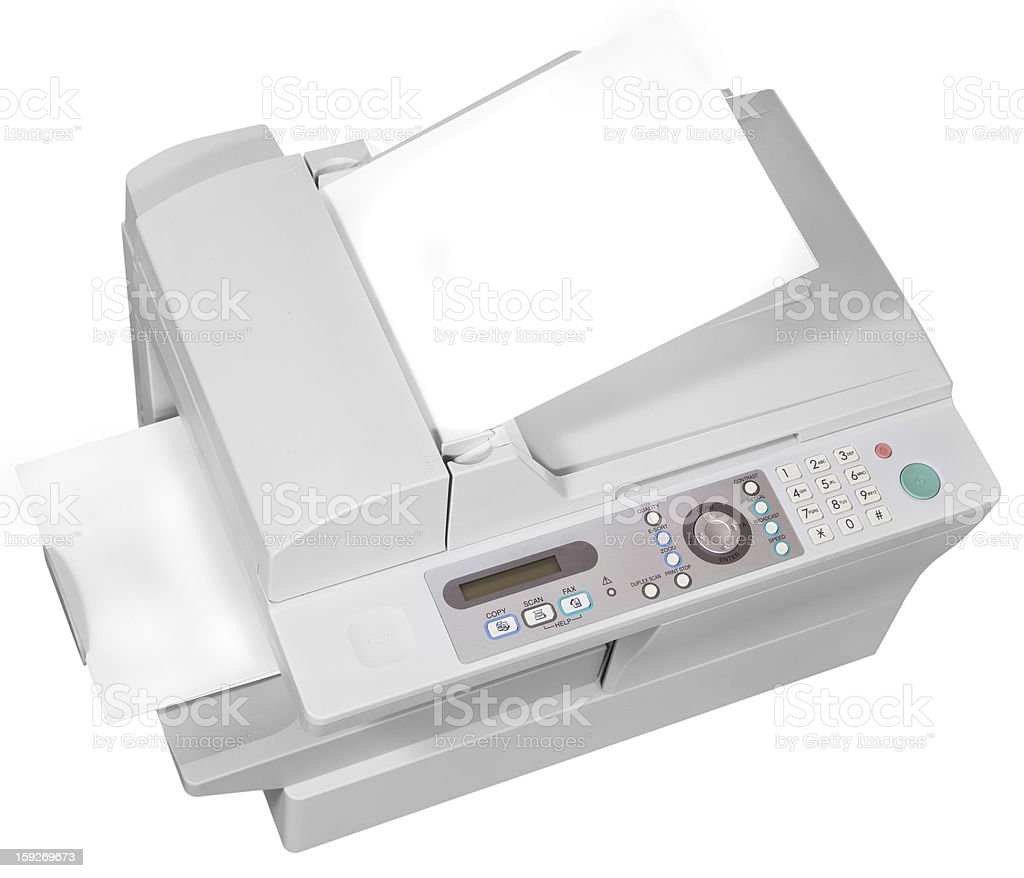 ffice multifunction device isolated on white stock photo