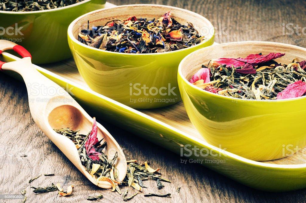 Fflower green tea stock photo