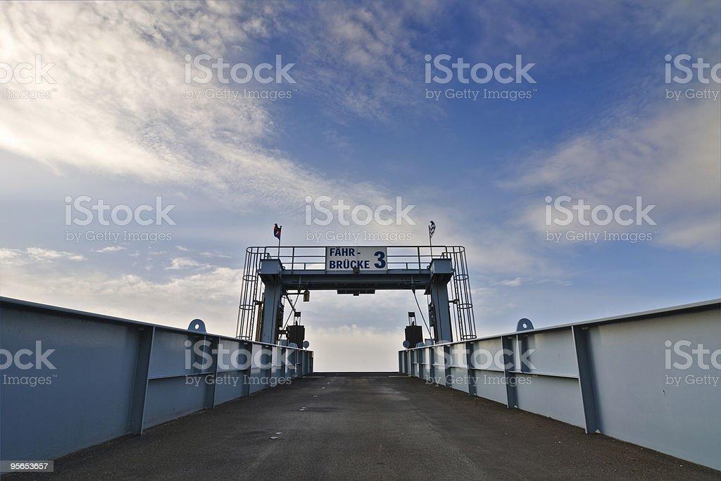 Fährbrücke 3 royalty-free stock photo