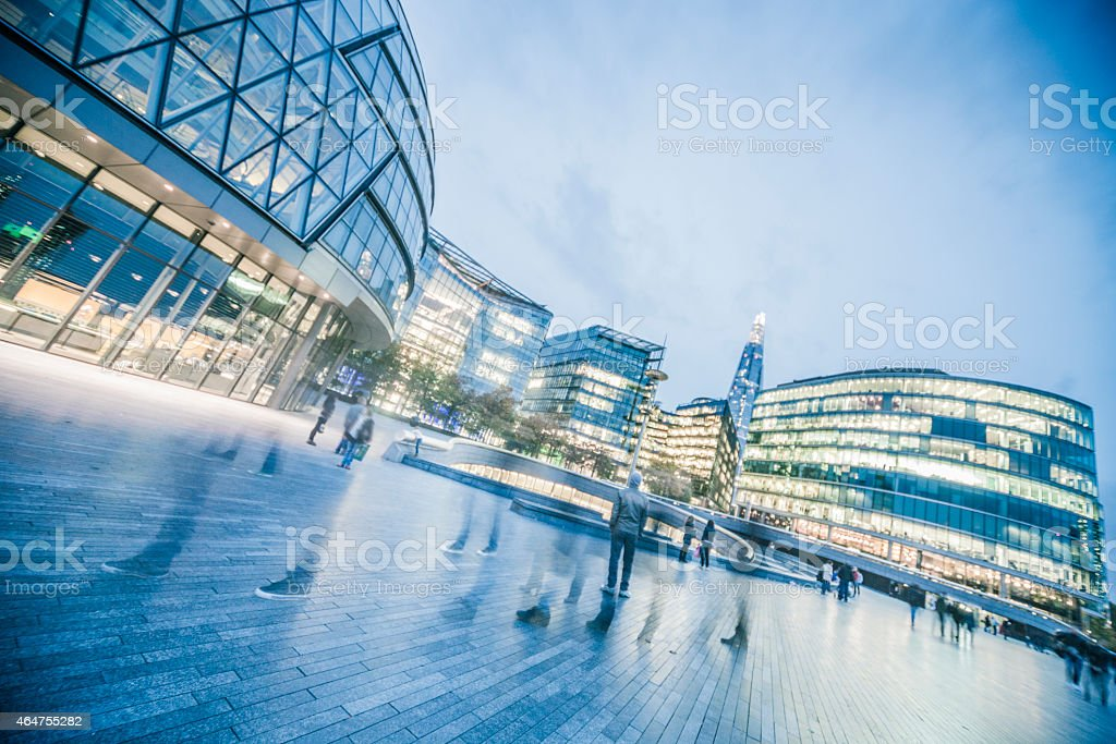 Fiancial District by night stock photo