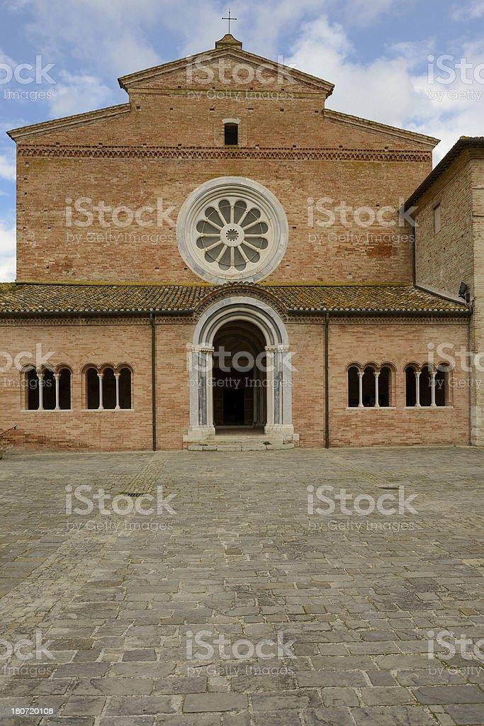 Fiastra's Abbey royalty-free stock photo