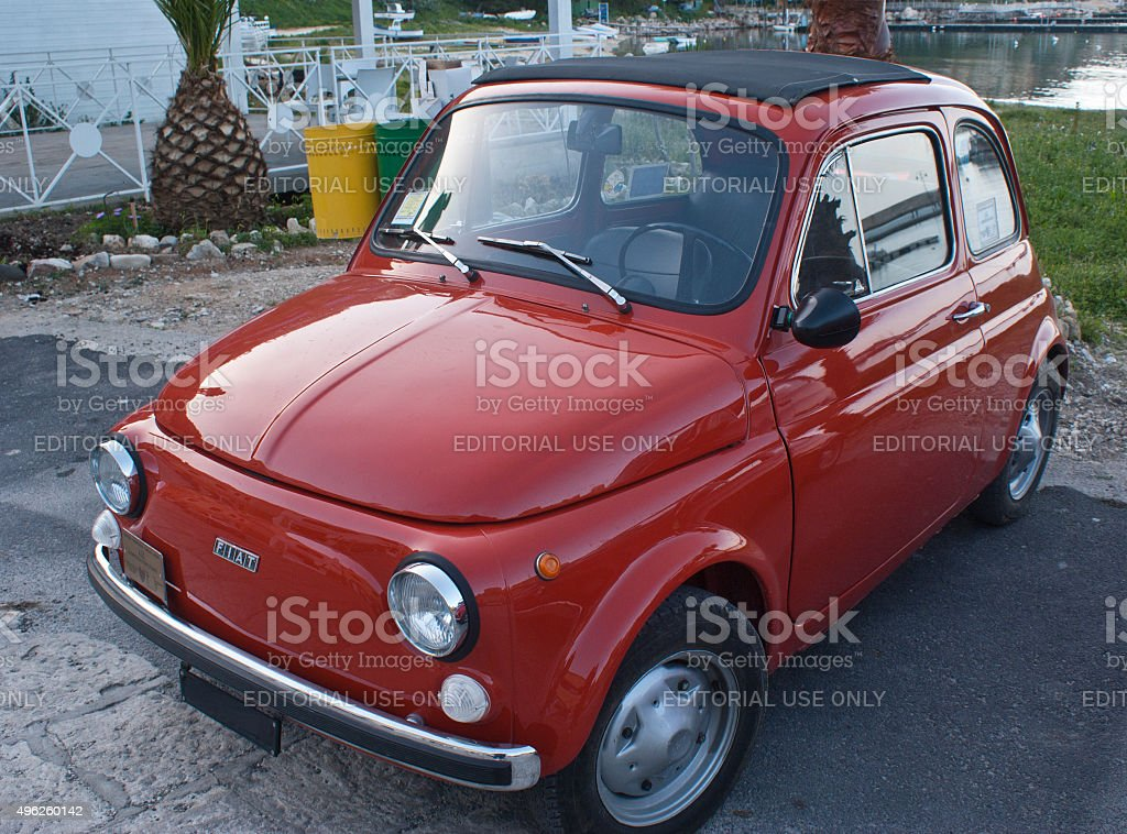 fiat 500 car stock photo