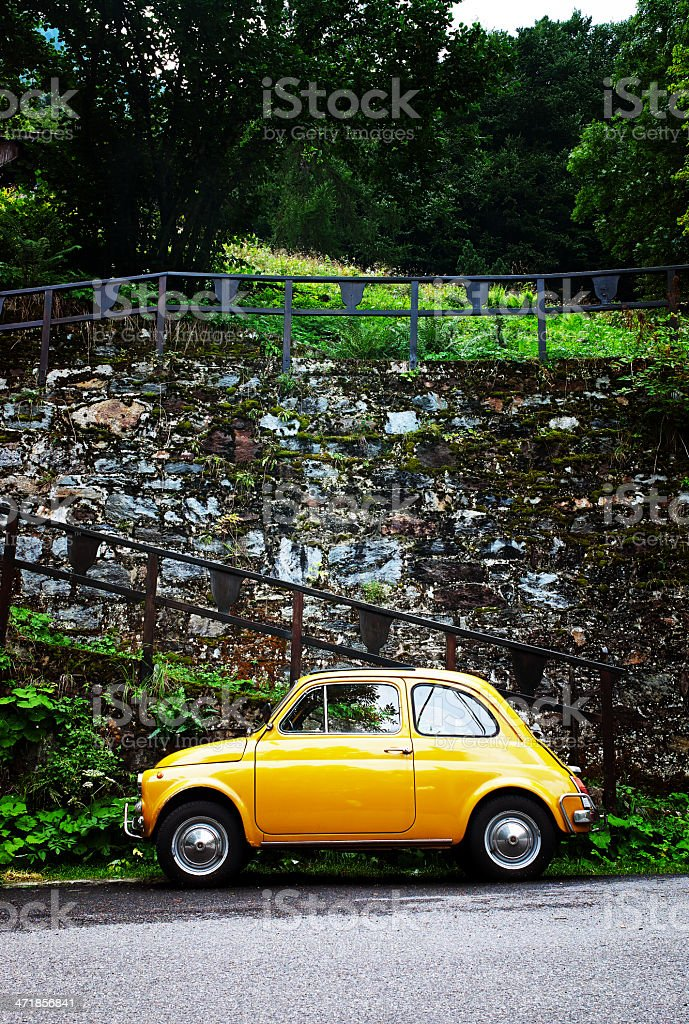 Fiat 500. Color Image royalty-free stock photo