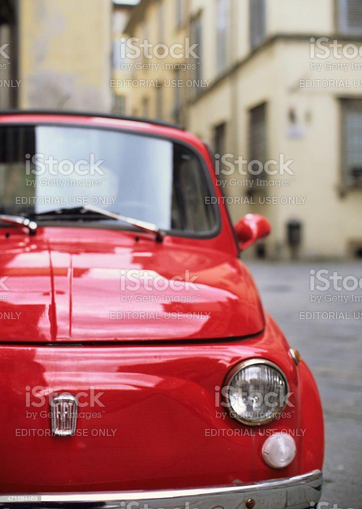 Fiat 500 in Tuscany stock photo