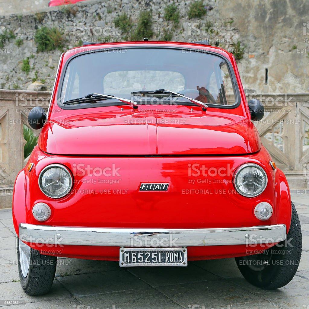 Fiat 500 on the street in Gaeta - Italy stock photo