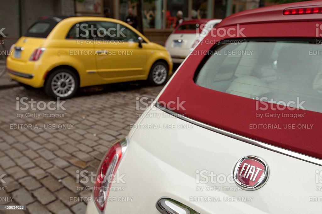 Fiat 500C Cabriolet stock photo