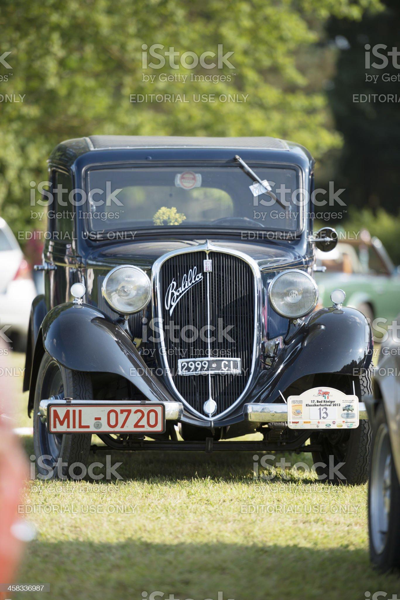 Fiat 508 Balilla royalty-free stock photo