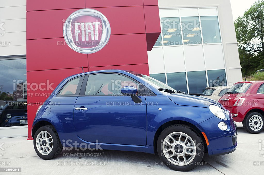 Fiat Dealer royalty-free stock photo