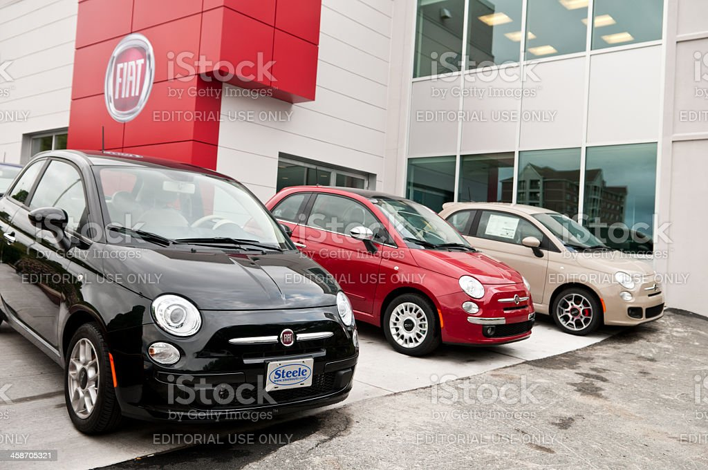 Fiat Dealer stock photo