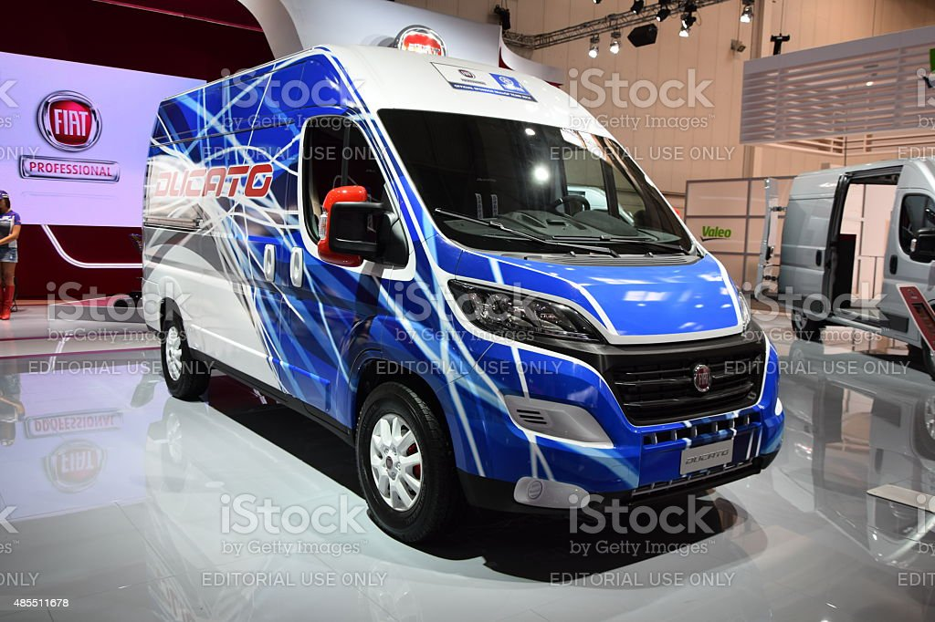 Fiat Ducato on the motor show stock photo