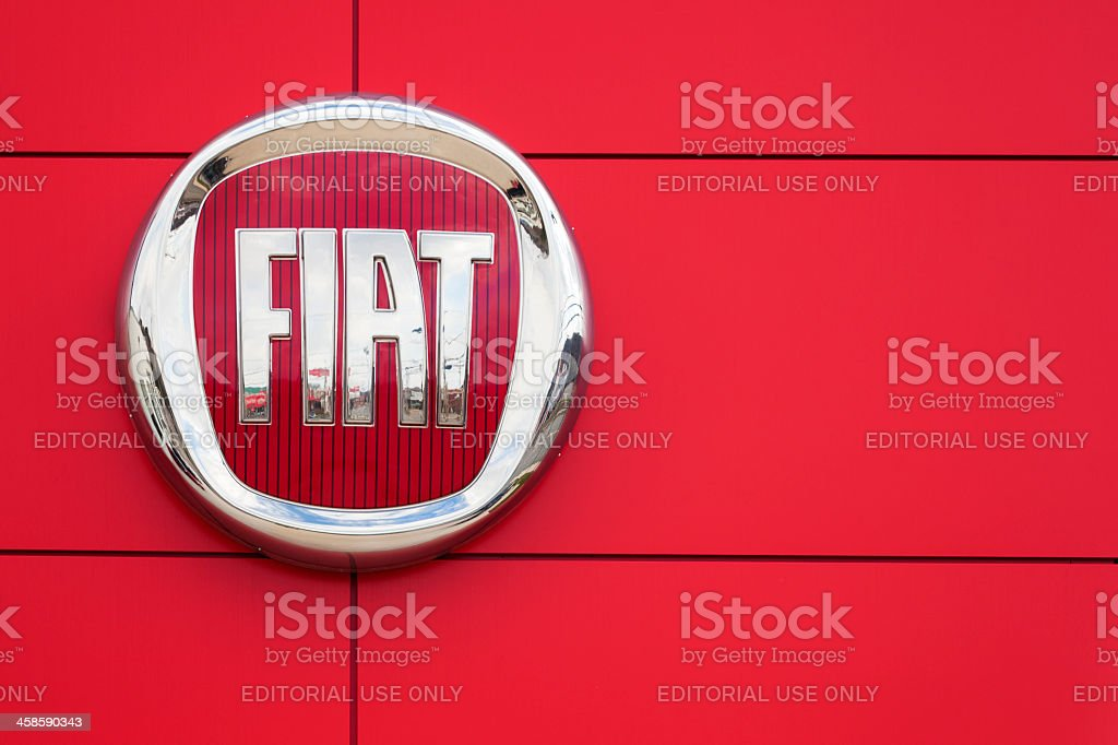 Fiat Logo and Sign stock photo
