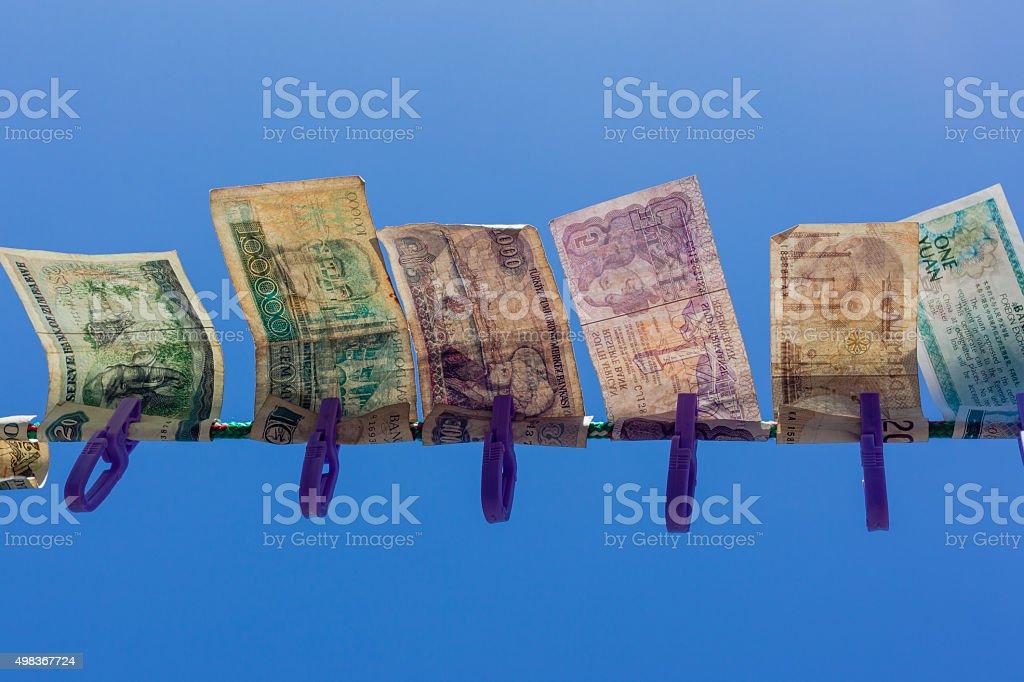 Fiat Money History stock photo