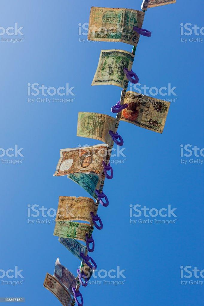 Fiat Money Pegged stock photo