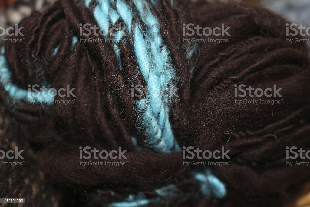 Fiber Craft Home spun Merino wool yarn stock photo