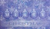 Fiber fabric and glitter film and christmas balls, christmas card