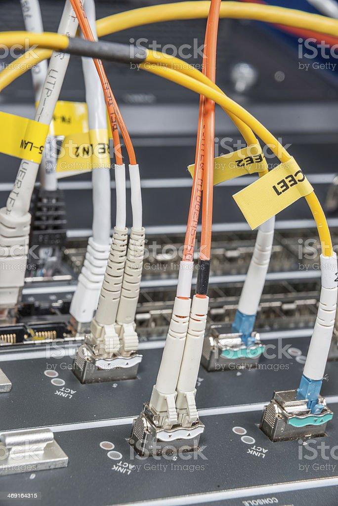 fiber network server royalty-free stock photo