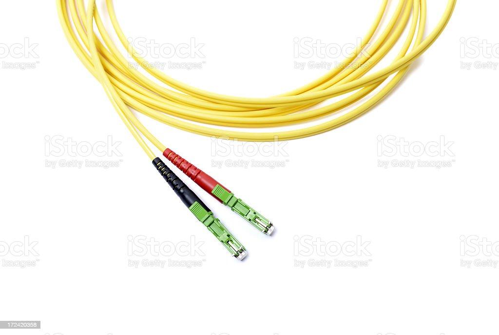 Fiber optic cable stock photo