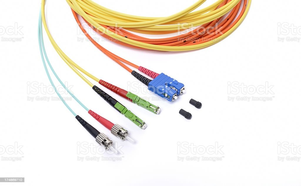 fiber optic cable stock photo