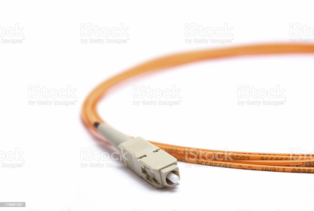 Fiber optic cable royalty-free stock photo