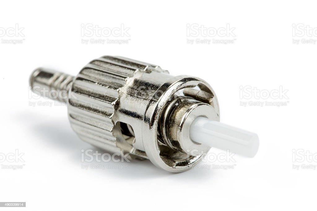 fiber optic ST connector stock photo