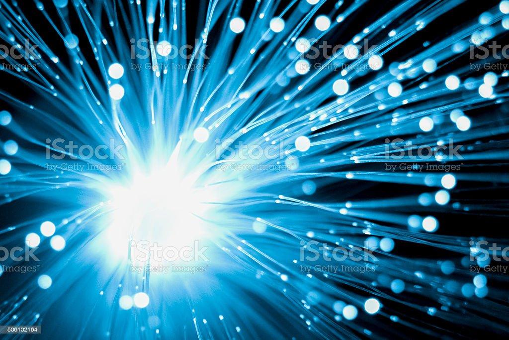Fiber optic technology stock photo