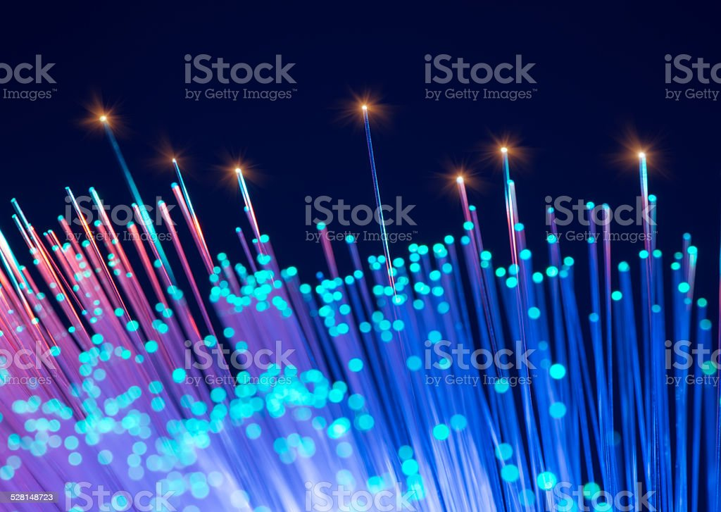 fiber optical cables stock photo
