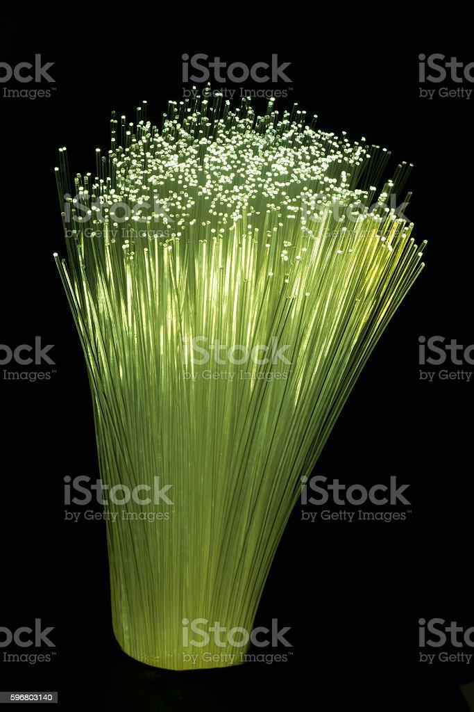 fiber optical cables stock photo