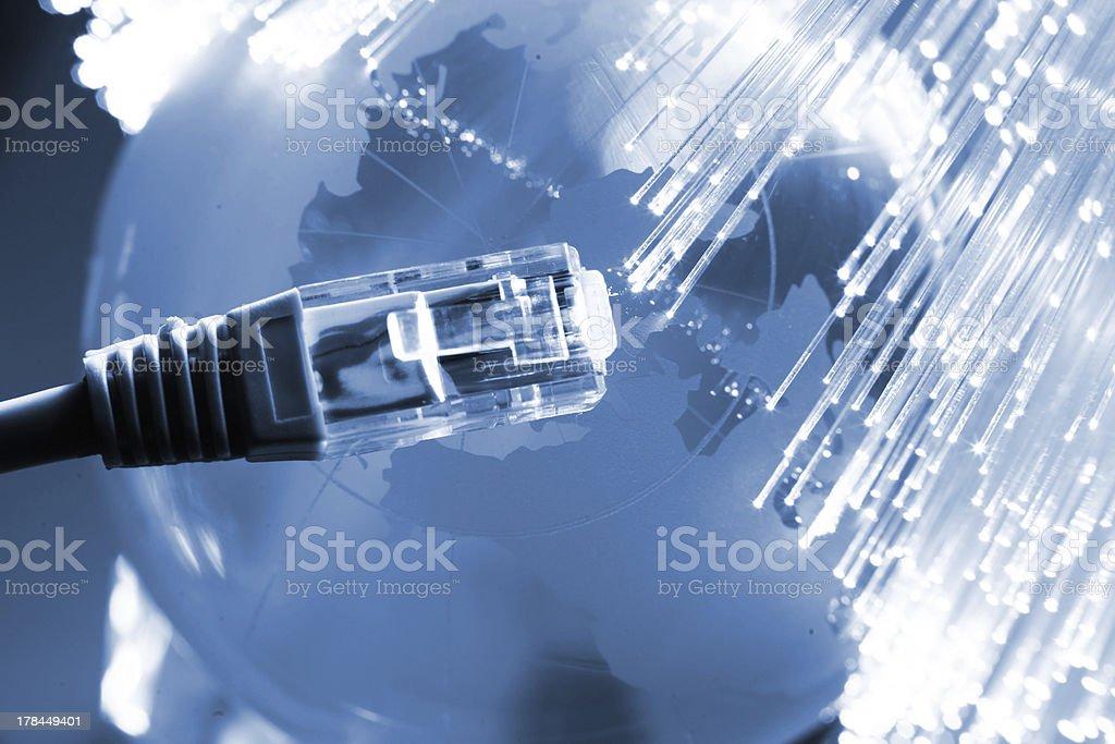 Fiber optical internet concepts stock photo