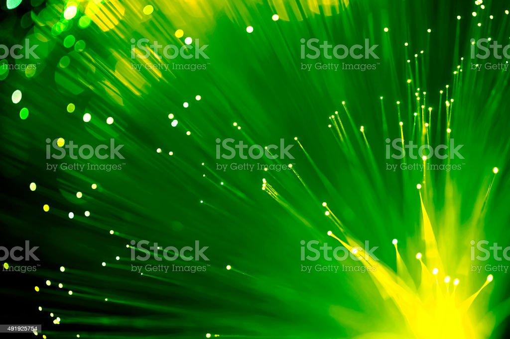 Fiber optics abstract background (green) stock photo